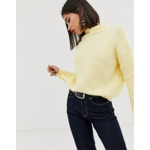 Mango oversized jumper in Yellow