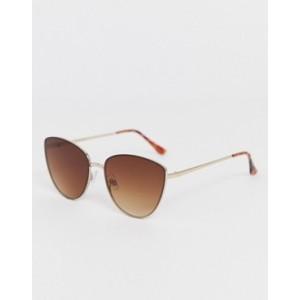 Mango oversized rimless sunglasses in tortoiseshell