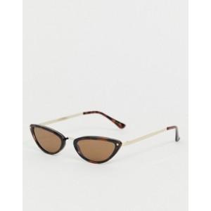 Mango slim sunglasses in tortoiseshell