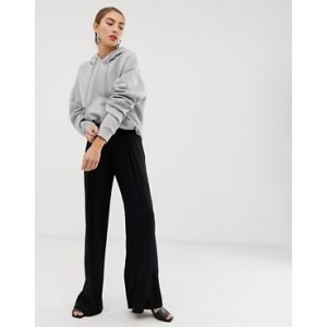 Mango wide leg pants in Black