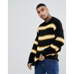 Mennace sweater in black stripe