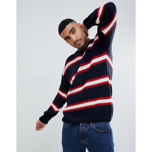 Mennace sweater in navy stripe