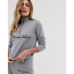 Missguided loungewear set with high neck zip front top / short in grey