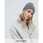 My Accessories grey knitted beanie hat