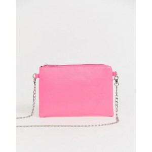 My Accessories London Exclusive neon pink pouch crossbody bag