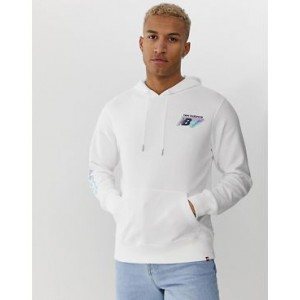 New Balance hoodie with sleeve print in white