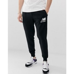 New Balance slim fit sweatpants in black