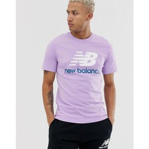 New Balance t-shirt with large logo in pink