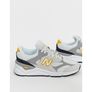 New Balance X90V1 Cream And Yellow Sneakers