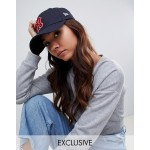 New Era 9Forty exclusive retro navy cap with red NY