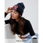 New Era navy exclusive beanie with retro red NY