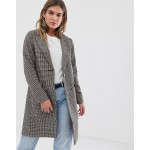New Look Check Tailored Coat