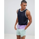 New Look Color Block Swim Shorts In Lilac