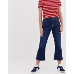 New Look Crop Kick Flare in Rinse