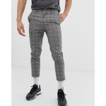 New Look cropped smart pants in Prince of Wales check