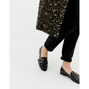 New Look double ring loafer in black