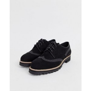 New Look lace up brogue in black