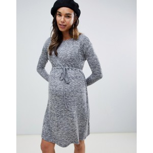 New Look Maternity dress with elasticated waist in gray