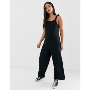 New Look Maternity rib jumpsuit in black