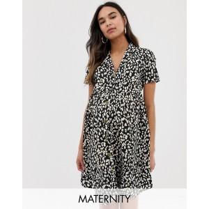 New Look Maternity smock dress in animal print