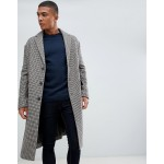 New Look over coat in brown check