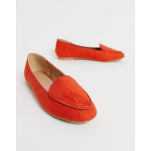 New Look piped loafer in bright orange
