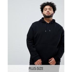 New Look plus hoodie in black