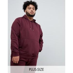 New Look plus hoodie in burgundy