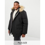 New Look Plus Parka Jacket In Black