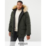 New Look Plus Parka Jacket In Khaki