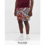 New Look Plus shorts in geo-tribal print