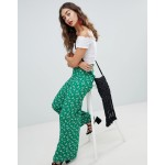 New Look Printed Wide Leg Trouser