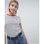 New Look Stripe Heart Tee