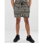 New Look two-piece shorts in leopard print