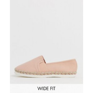 New Look wide fit espadrille in light pink