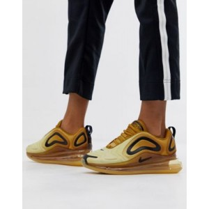 Nike Air Max 720 trainers in gold