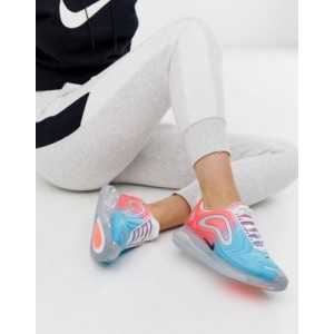 Nike Air Max 720 trainers in pink and blue