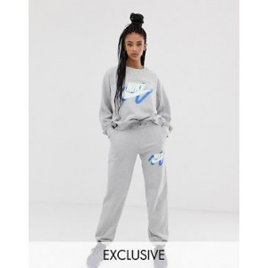 Nike Archive Exclusive To ASOS Gray Scribble Logo Sweatpants