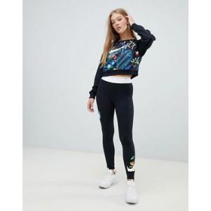 Nike Black Hyper Femme Floral Logo Leggings