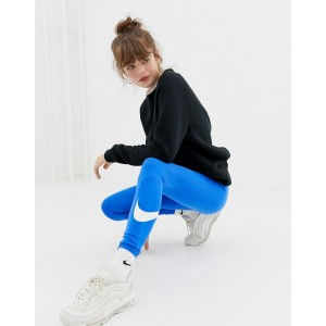 Nike Blue Logo Waistband Legasee Leggings