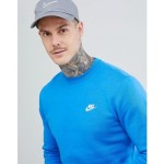 Nike Club Swoosh Sweatshirt In Blue 804340-403