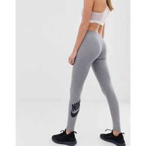 Nike Leg A See Logo Leggings In Gray