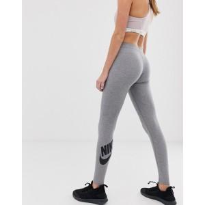 Nike Leg A See Logo Leggings In Gray