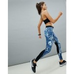 Nike Pro Training Blue Marble Print Legging