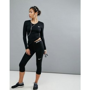 Nike Pro Training Capri Legging In Black