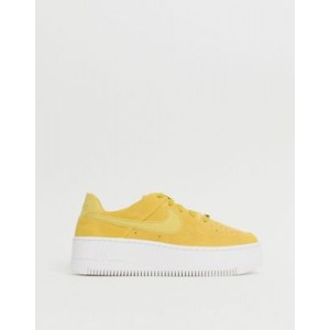 Nike Yellow Air Force 1 Sage Trainers