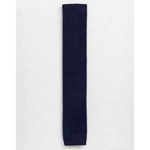 Noak knitted tie in navy