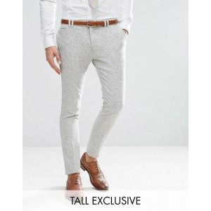 Noak Tall Super Skinny Suit Pants In Fleck