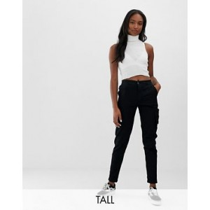Noisy May Tall utility pants in black