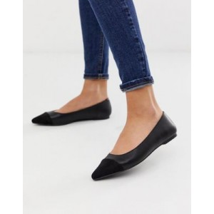 Oasis pointed flat shoes in black